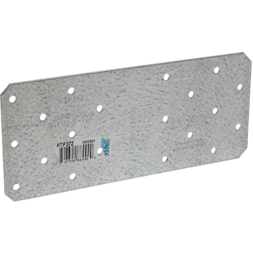 Simpson Strong-Tie 3 in. W. x 7 in. L. Galvanized Steel 16 Gauge Tie Plate