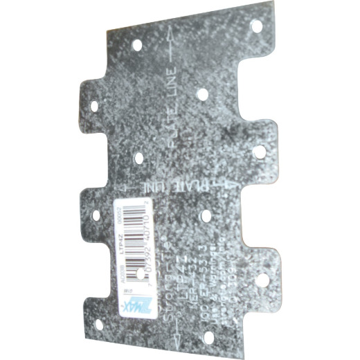 Simpson Strong-Tie 3 in. W. x 4-1/4 in. H. Galvanzied Steel 20 Gauge Tie Plate