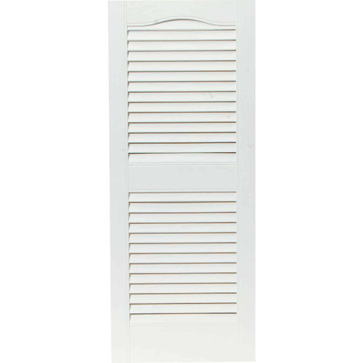 Builders Edge 15 In. x 36 In. Vinyl Louvered Shutter, (2-Pack)
