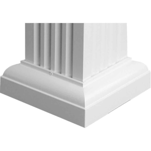 Crown Column 8 In. White Aluminum Cap/Base