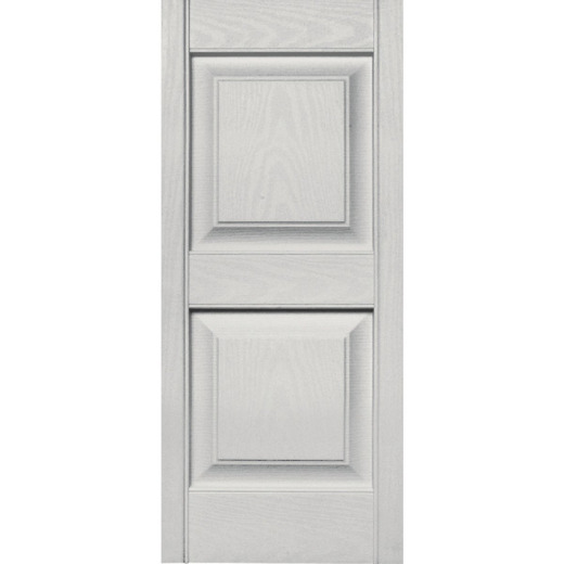 Builders Edge 15 in. x 35 in. Paintable Panel Shutter, (2-Pack)