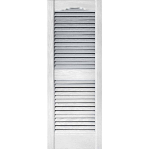 Builders Edge 15 In. x 39 In. Vinyl Louvered Shutter, (2-Pack)