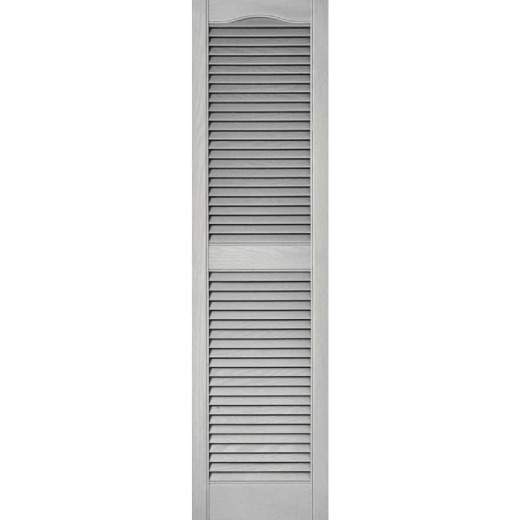 Builders Edge 15 In. x 60 In. Vinyl Louvered Shutter, (2-Pack)