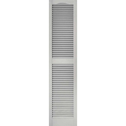 Builders Edge 15 In. x 64 In. Vinyl Louvered Shutter, (2-Pack)