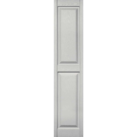 Builders Edge 15 in. x 71 in. Paintable Panel Shutter, (2-Pack)