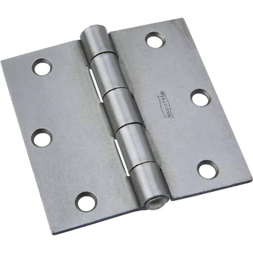 National 3-1/2 In. Square Steel Broad Door Hinge