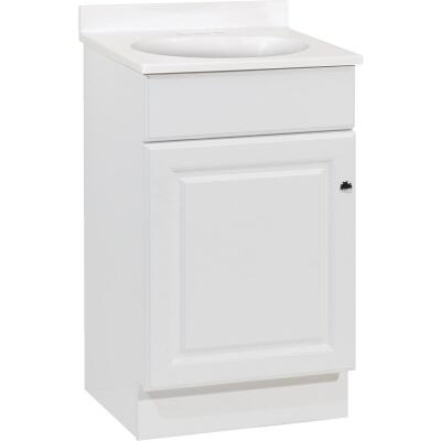 Continental Cabinets Richmond White 19 In. W x 35-1/4 In. H x 17 In. D Vanity with Cultured Marble Top