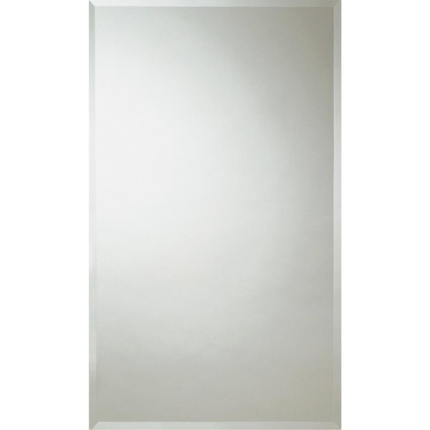 Zenith Frameless Beveled 16 In. W x 26 In. H x 4-1/2 In. D Single Mirror Surface/Recess Mount Medicine Cabinet Image 1