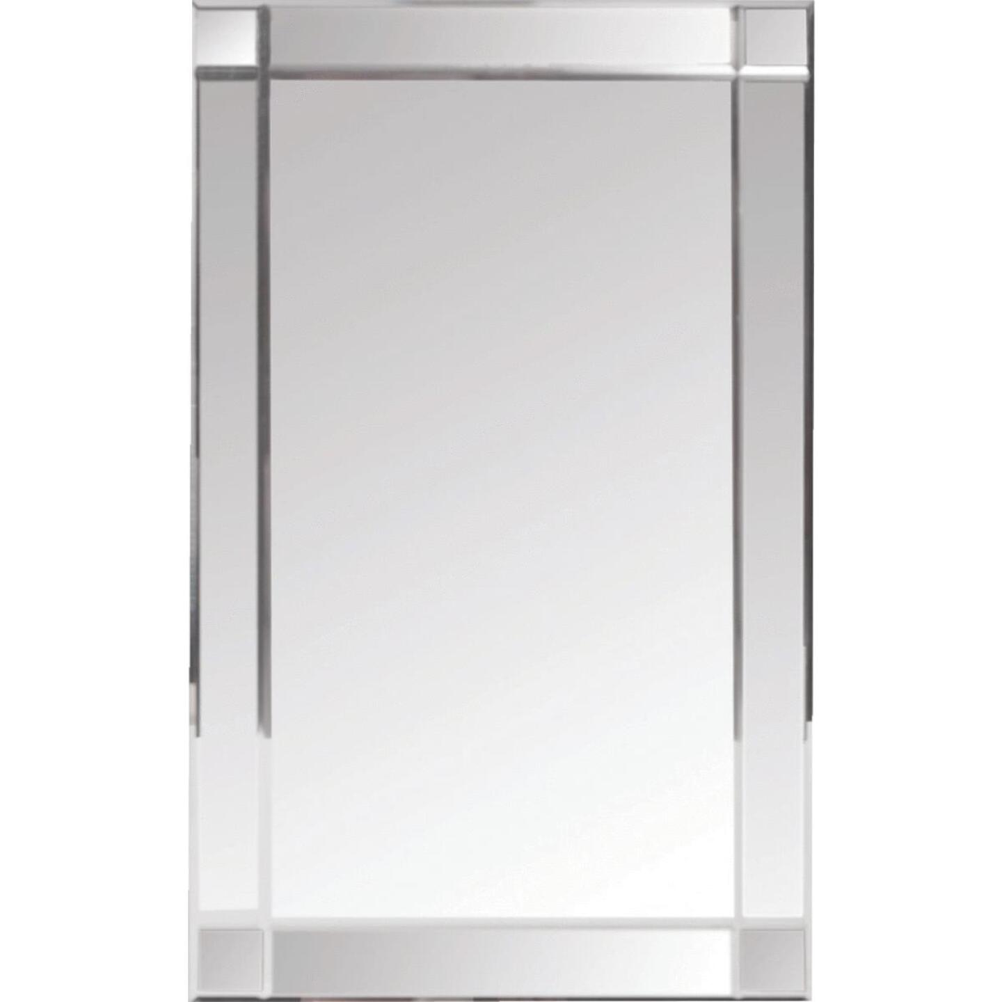 Zenith Frameless Beveled 16 In. W x 26-3/8 In. H x 4-1/2 In. D Single Mirror Surface Mount V-Groove Mirror Medicine Cabinet Image 1