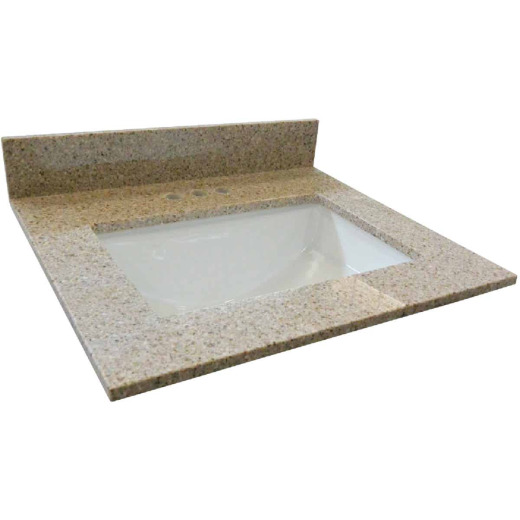 Design House 37 In. W x 22 In. D Golden Sand Granite Vanity Top with Rectangular Bowl