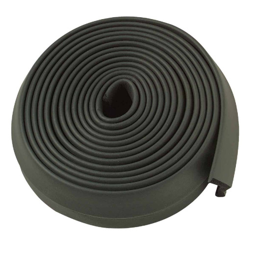M-D 2 In. x 16 Ft. Black Rubber Bottom Garage Door Seal