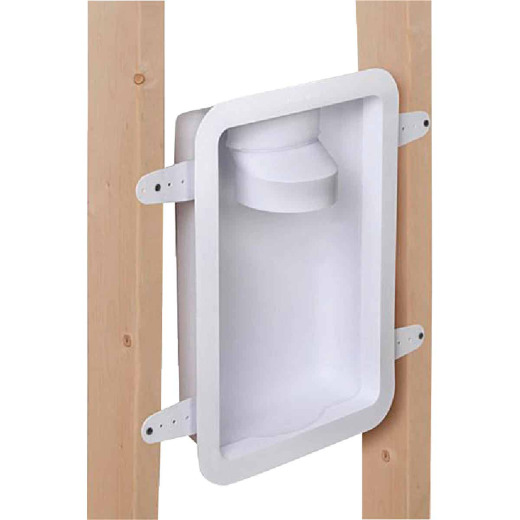 Dundas Jafine 12.05 In. W. x 17.5 In. L. x 3.45 In. D. White Dryer Wall Box