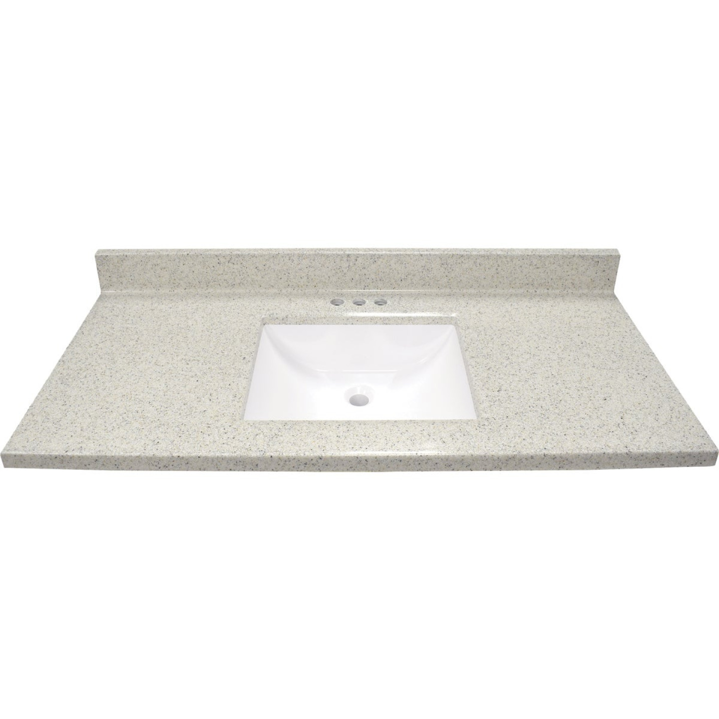 Modular Vanity Tops 49 In. W x 22 In. D Dune Cultured Marble Vanity Top with Rectangular Wave Bowl Image 2