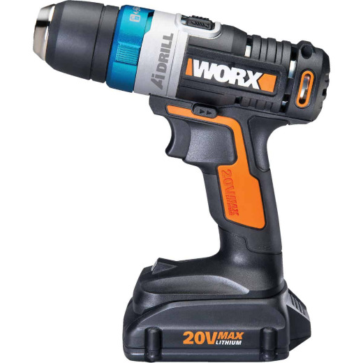 WORX 20 Volt AI (Advanced Intelligence) Lithium-Ion 3/8 In. Cordless Drill/Driver Kit