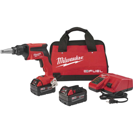 Milwaukee M18 FUEL 18-Volt Lithium-Ion Brushless Drywall Cordless Screwgun Kit