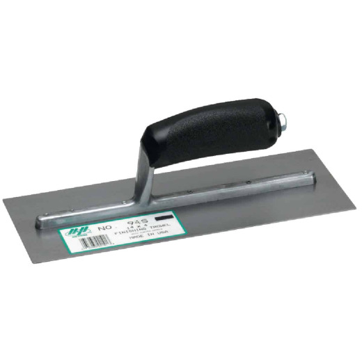 QLT 4 In. x 14 In. Finishing Trowel with Curved Plastic Handle