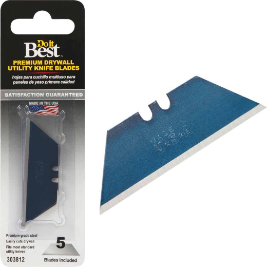 Do it Best Drywall 2-Point 2-3/8 In. Utility Knife Blade (5-Pack)