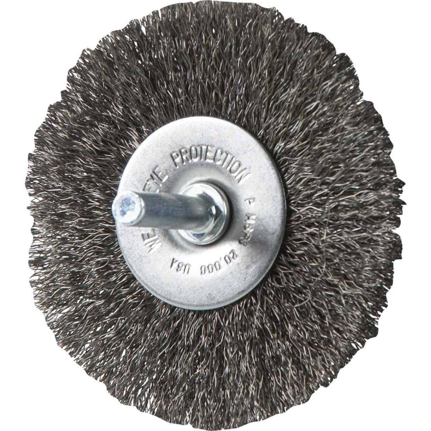 Weiler Vortec 3 In. Crimped, Fine Drill-Mounted Wire Brush Image 1