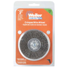 Weiler Vortec 3 In. Crimped, Fine Drill-Mounted Wire Brush Image 2
