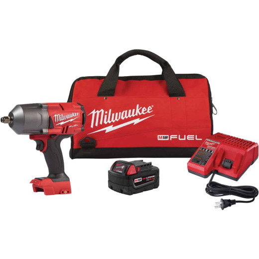 Milwaukee M18 FUEL 18 Volt Lithium-Ion Brushless 1/2 In. High Torque Cordless Impact Wrench w/Friction Ring Kit