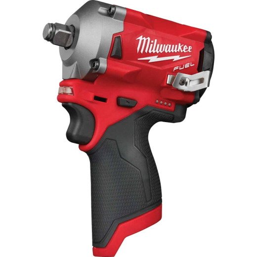 Milwaukee M12 FUEL 12 Volt Lithium-Ion Brushless 1/2 In. Stubby Cordless Impact Wrench (Bare Tool)