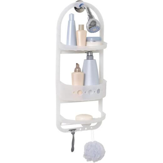 Zenith Plastic 10-1/4 In. x 26-1/4 In. Shower Caddy