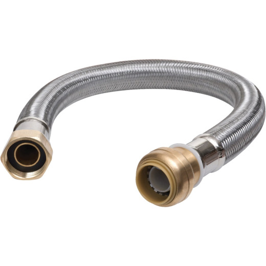 Sharkbite 3/4 In. x 1 In. x 24 In. Stainless Steel Water Softener Connector