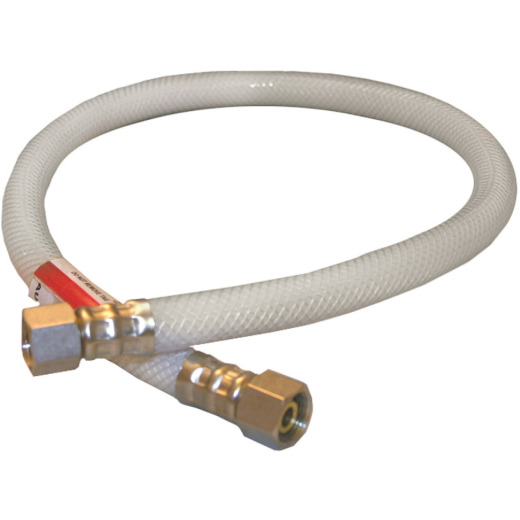 Lasco 3/8 In. C x 3/8 In. C x 24 In. L Braided Poly Vinyl Appliance Water Connector