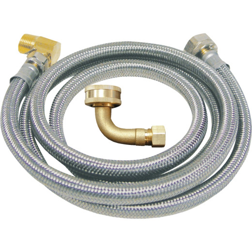 B&K 3/8 In. x 3/8 In. x 60 In. Stainless Steel Dishwasher Connector