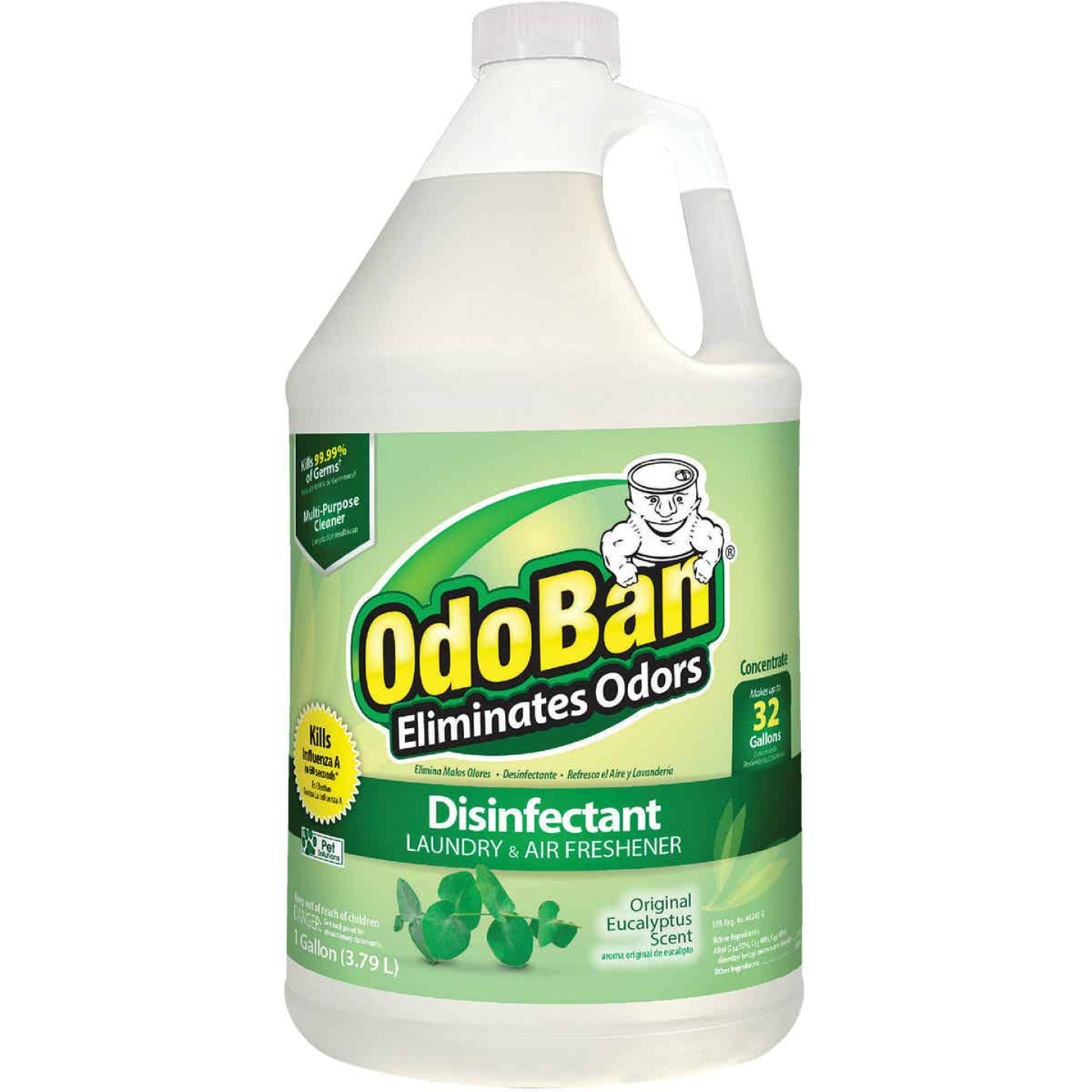 OdoBan 1 Gal. Eucalyptus Washable Surface Sanitizer & Deodorizer Concentrate Image 1