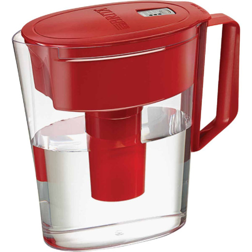 Brita Soho 5-Cup Water Filter Pitcher, Red