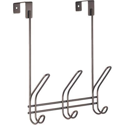 iDesign Classico Over-The-Door Bronze 3-Hook Rail