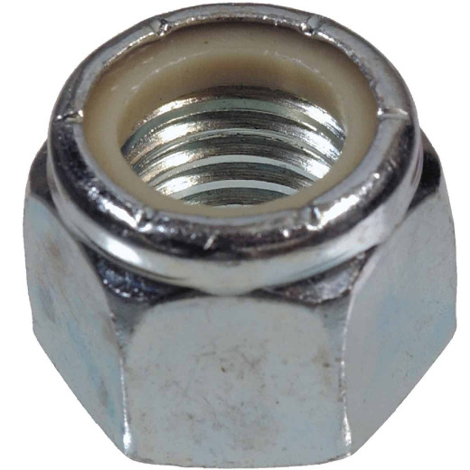 Hillman 5/16 In. 18 tpi Steel Course Thread Nylon Insert Lock Nut (100 Ct.)