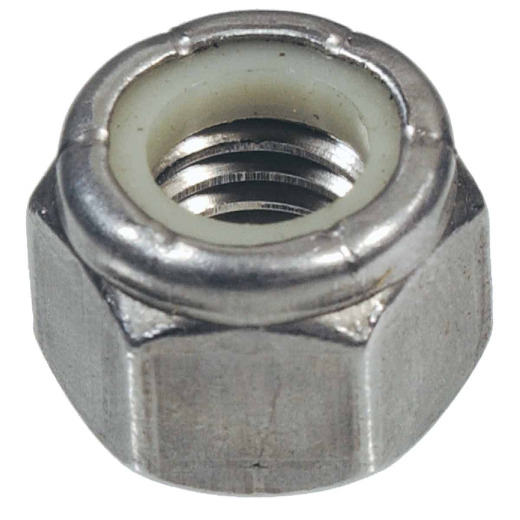 Hillman 5/16 In. 18 tpi Stainless Steel Course Thread Nylon Insert Lock Nut (50 Ct.)