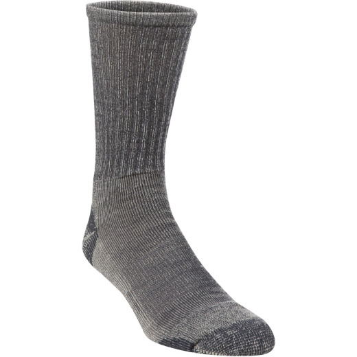 Hiwassee Trading Company Large Charcoal Lightweight Hiking Crew Sock