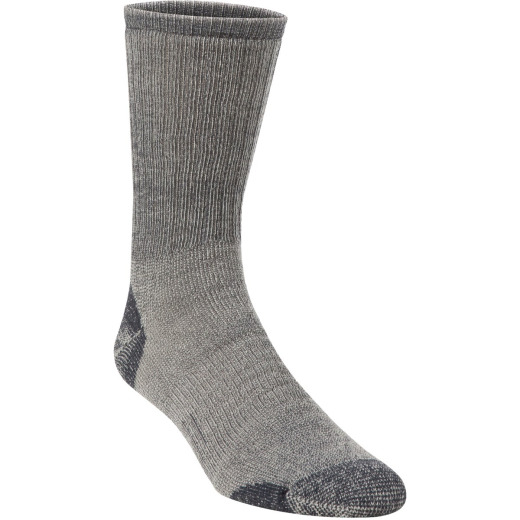Hiwassee Trading Company Men's Extra Large Charcoal Medium Weight Hiking Crew Sock