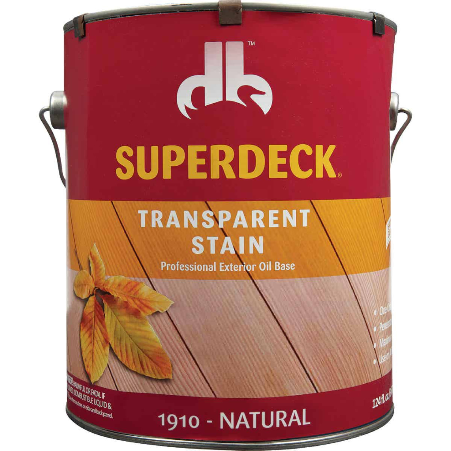 Duckback SUPERDECK Transparent Exterior Stain, Natural, 1 Gal. Image 2