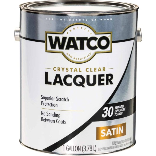 Watco Clear Satin Gallon 350 Sq. Ft./Gal. Lacquer