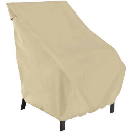Classic Accessories 26 In. W. x 34 In. H. x 25 In. L. Tan Polyester/PVC Chair Cover