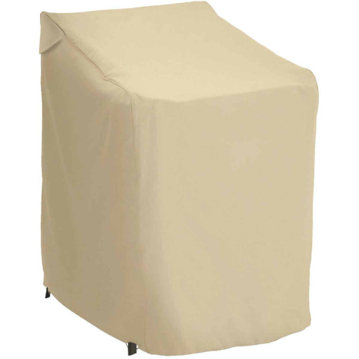 Classic Accessories 25.5 In. W. x 45 In. H. x 33.5 In. L. Tan Polyester/PVC Chair Cover